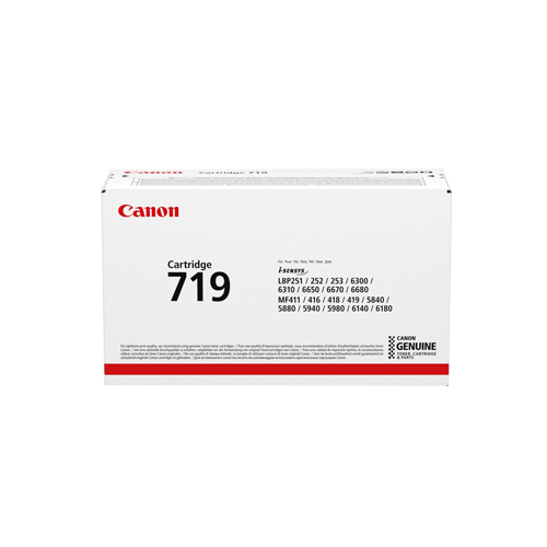 کارتریج کنون 719 حاوی تونر مشکی Canon 712 Black Laserjet Toner Cartridge